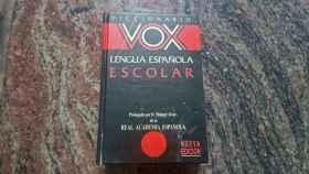 Un ejemplar de diccionarios Vox.