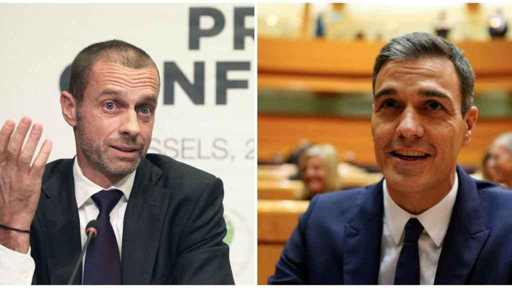 Ceferin y Pedro Sánchez.