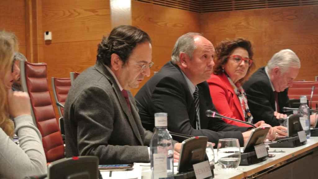 Luis Aznar, senador y portavoz del PP en la comisión de financiación de partidos políticos en la Cámara Alta.