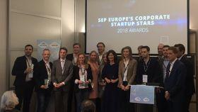 Todas las empresas premiadas por la Comisión Europea en Corporate Startup Stars 2018.