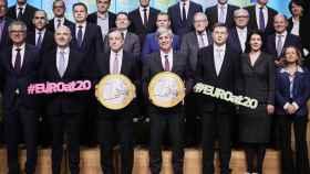 La foto de familia de los 20 años del euro