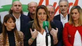 Susana Díaz, este lunes en Sevilla