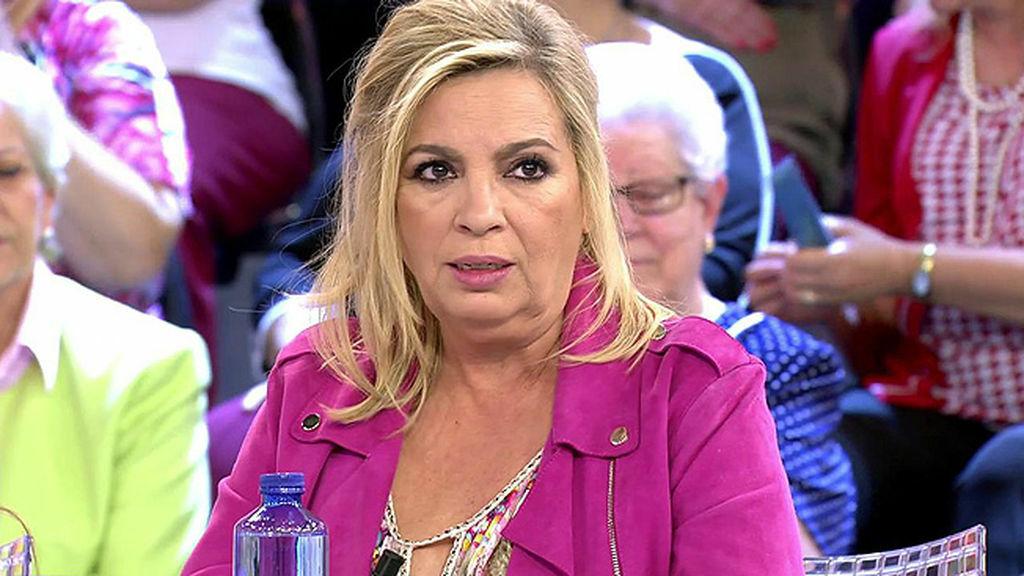 Carmen Borrego durante el programa 'Sálvame Diario'