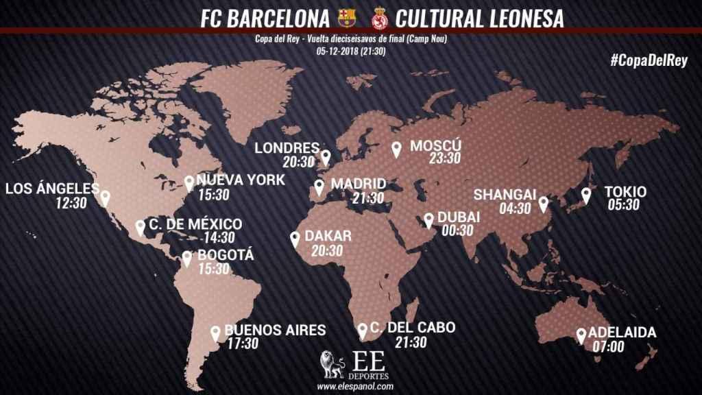Horario del Barcelona - Cultural Leonesa
