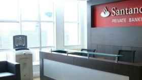 Imagen de archivo de una oficina del Banco Santander