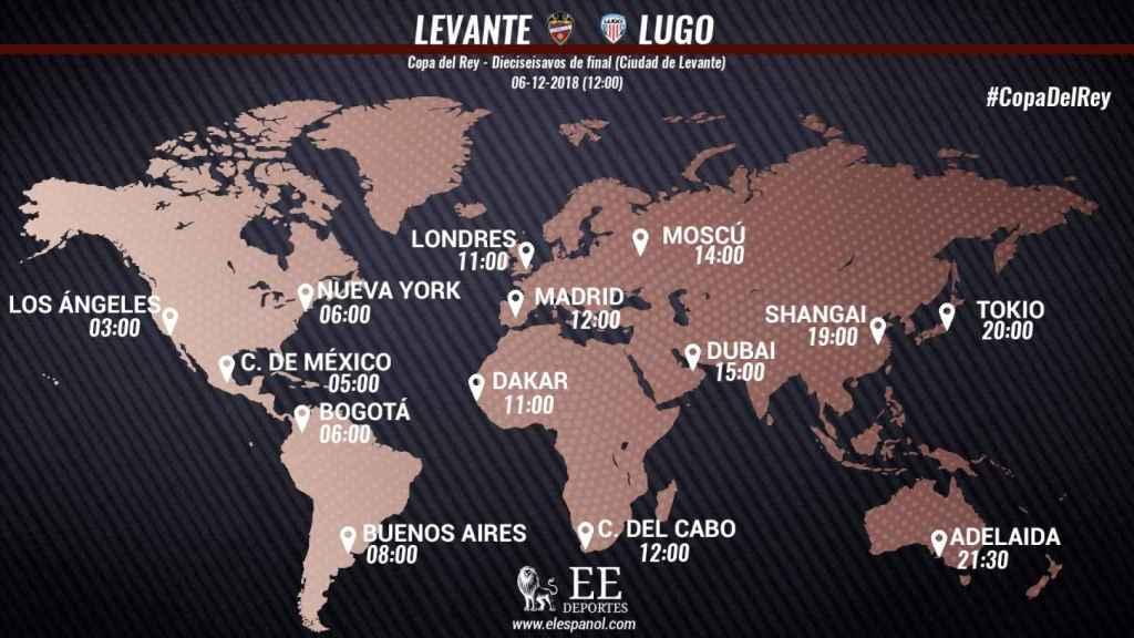 Horario Levante - Lugo