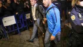 Carlos Tévez, en la llegada de Boca Juniors a Madrid