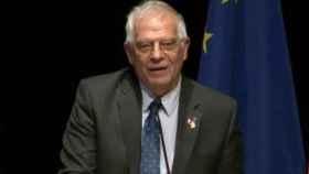Borrell, durante el acto en Bruselas