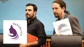Pablo Iglesias y Alberto Garzón, líderes de Podemos e IU, en el Congreso.