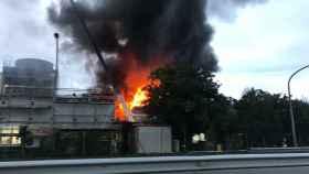 Declarado un incendio en la planta de Ence (Pontevedra)