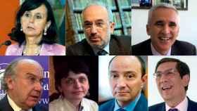 María E. Casas, Santiago Muñoz, Javier Tajadura, Luis Aguiar, Gema Rosado, Raúl Canosa y Enrique Arnaldo.