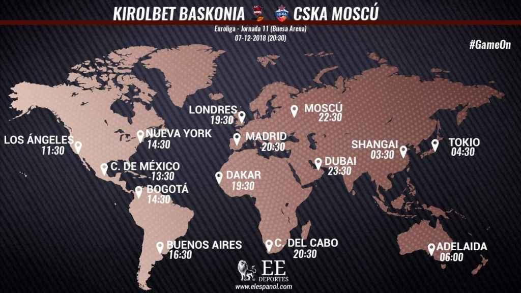 Horario internacional Baskonia - CSKA Moscú