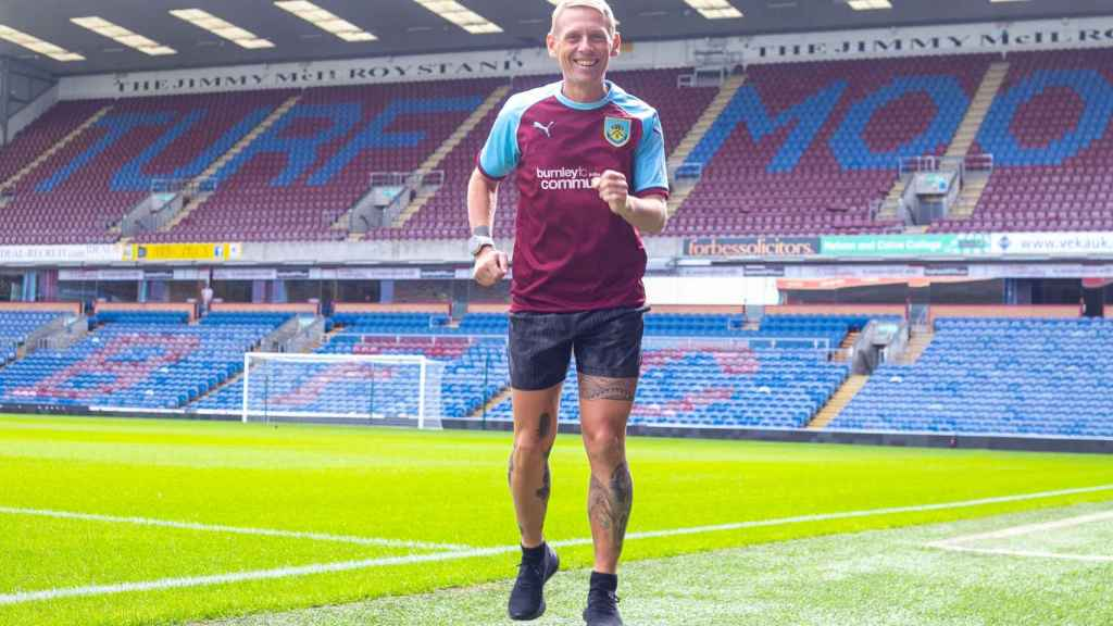 Scott Cunliffe, aficionado del Burnley. Foto: www.burnleyfccommunity.org