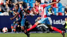Boateng y Bernardo Cruz, en el Levante - Lugo.