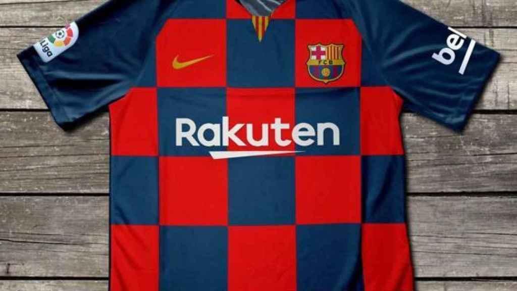 La camiseta de la primera equipación del Barça.