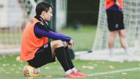 Bojan, en un entrenamiento con el Stoke City. Foto: Twitter (@BoKrkic)