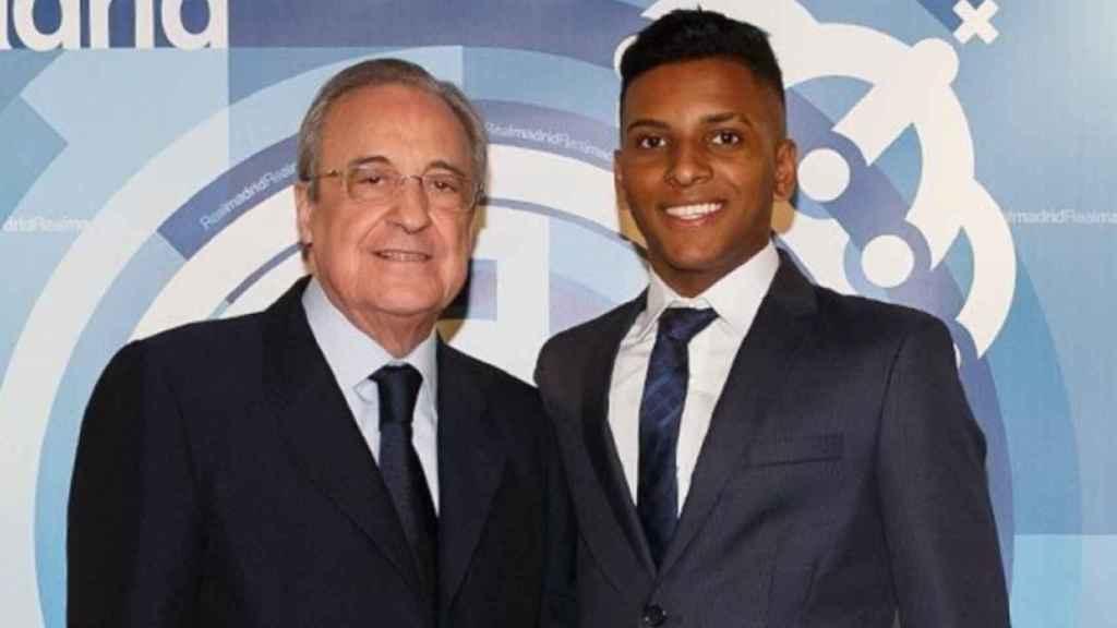 Florentino Pérez y Rodrygo Goes