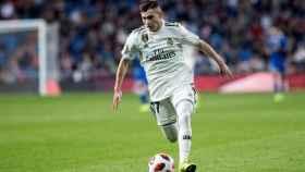 Fran García, en su debut con el Real Madrid ante el Melilla en la Copa del Rey
