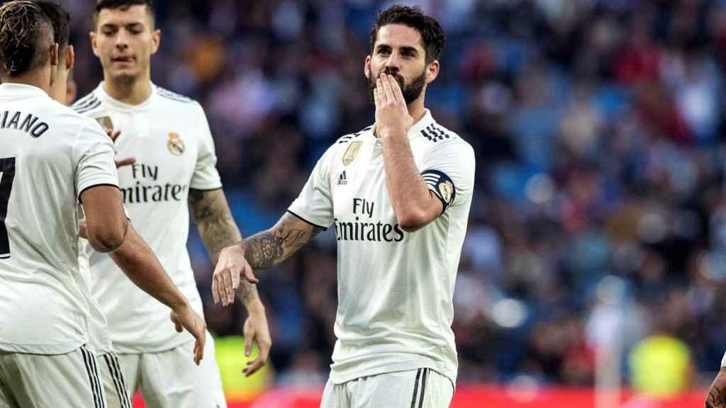 Isco Alarcón celebra su gol ante el Melilla