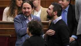 Pablo Iglesias durante los actos en el Congreso por el 40 aniversario de la Constitución.
