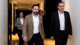 Javier Ortega junto al presidente de Vox, Santiago Abascal.
