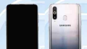 Samsung Galaxy A8s filtrado: pantalla agujereada por delante, iPhone por detrás
