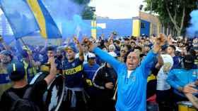 Aficionados de Boca Juniors.