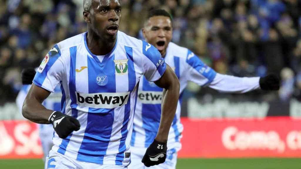 Jugadores del Leganés celebran un gol en Liga