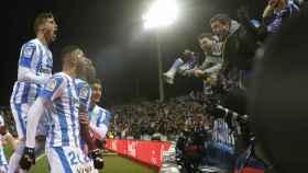 Nyom celebra su gol en el Leganés - Getafe de La Liga