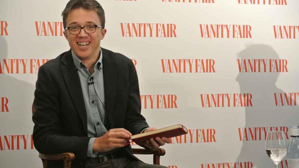 Íñigo Errejón, durante un desayuno informativo organizado por 'Vanity Fair'.