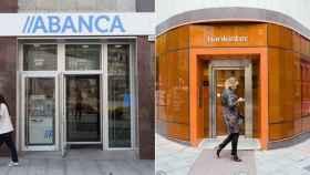 Imagen de archivo de dos sucursales de Bankinter y Abanca.