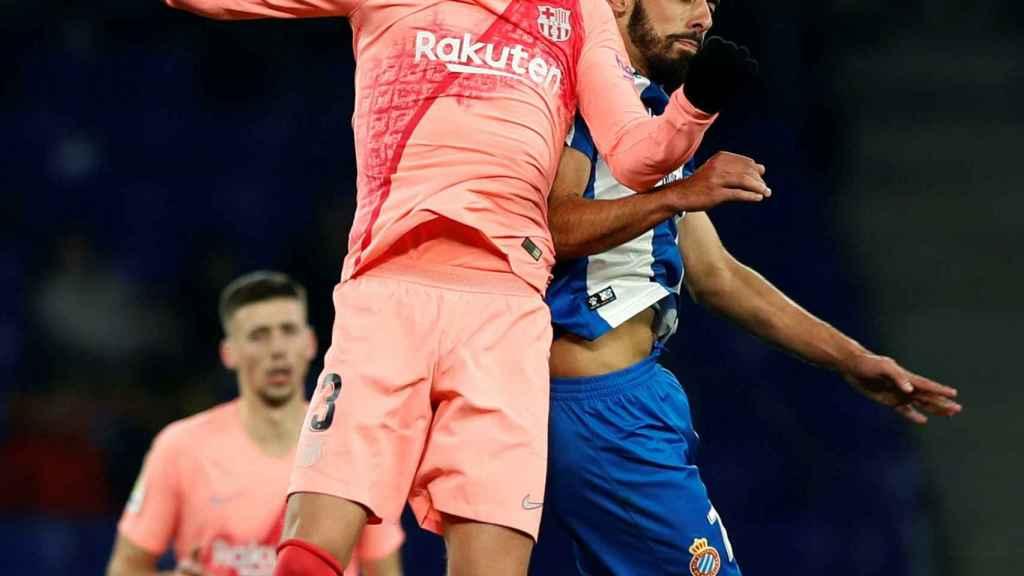 Piqué, contra el Espanyol
