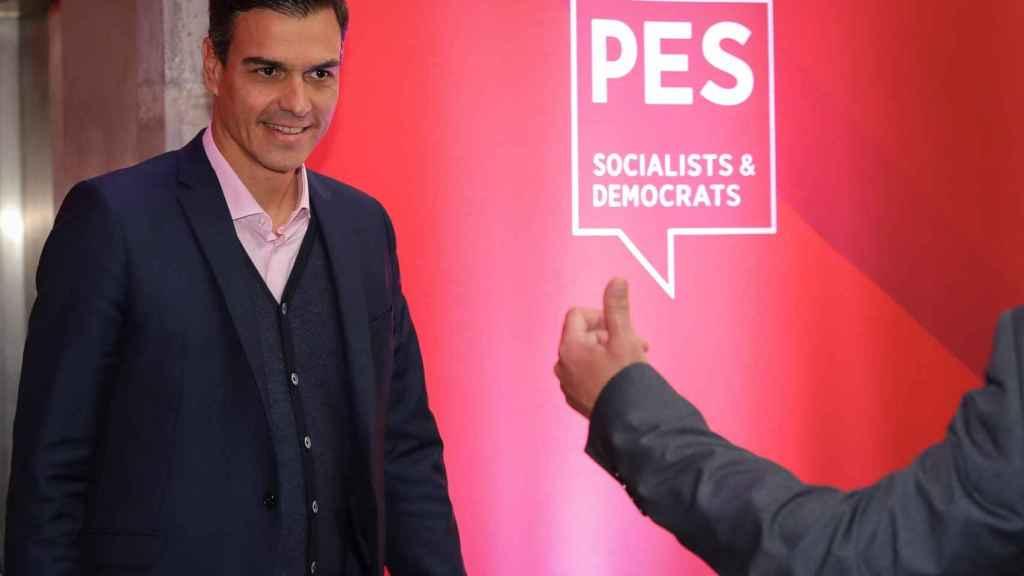 Pedro Sánchez, a su llegada al XI Congreso del Partido Socialista Europeo, en Lisboa.