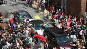 Imagen del atropello de agosto de 2017 durante la marcha antifascista de Charlottesville