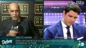 Diego Matamoros y su padre en 'Sábado Deluxe'.