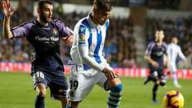 Theo Hernández, de la Real Sociedad, durante el partido ante el Valladolid