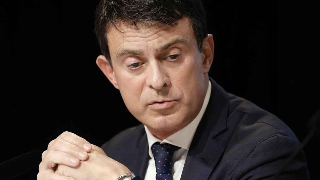 Manuel Valls, durante una rueda de prensa.