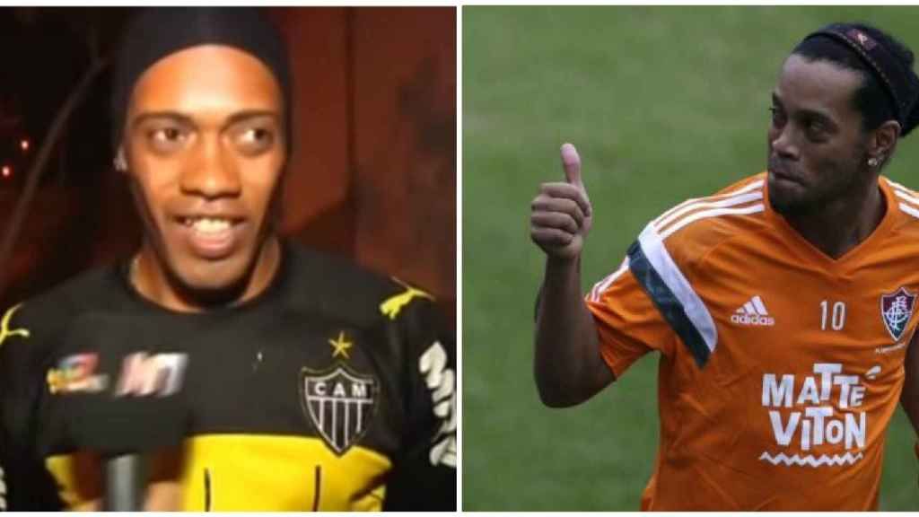 El doble de Ronaldinho causa furor en Brasil.