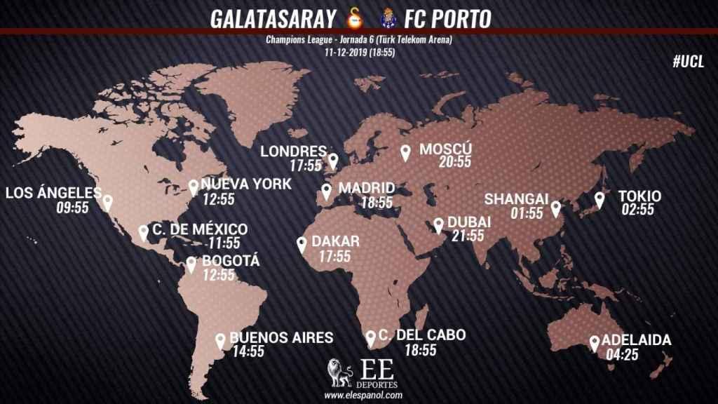 Horario Galatasaray-Oporto