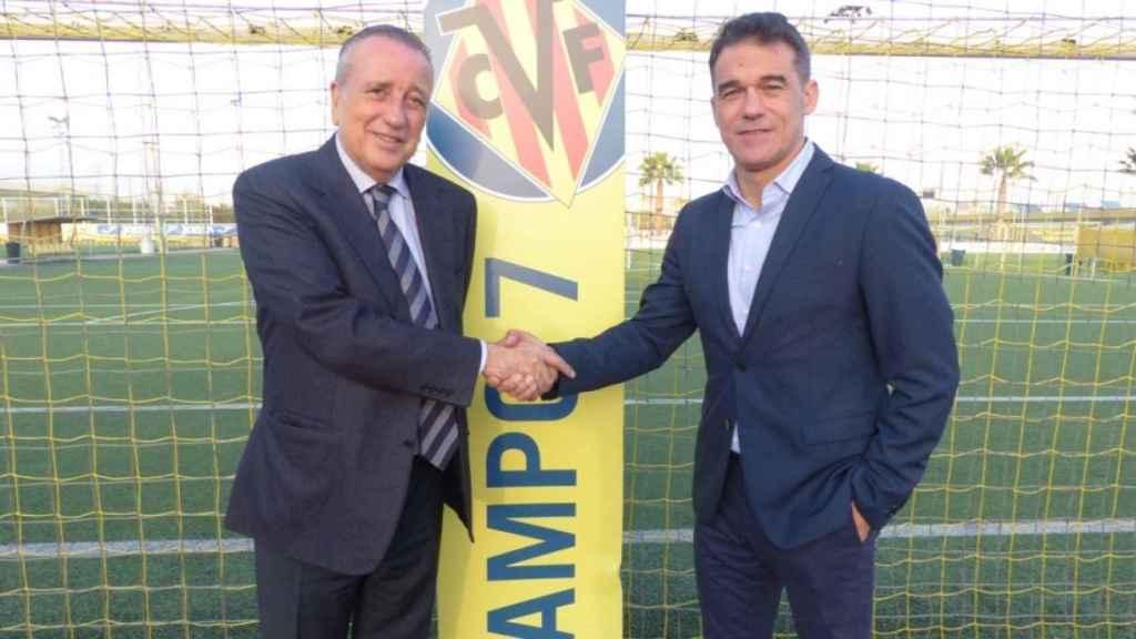 Fernando Roig presenta a Luis García como nuevo entrenador del Villarreal. Foto: www.villarrealcf.es