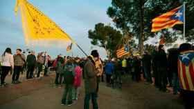 Concentración de apoyo a los huelguistas frente a la cárcel de Lledoners.