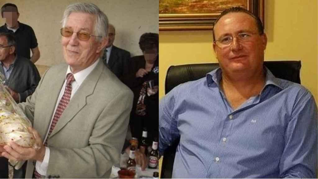 Vicente Robisco (izda.) y Antonio Pozo, alcaldes que han decidido cambiar de militancia para integrarse en Vox.