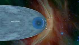 La situación de las dos sondas Voyager más allá de la helioesfera.