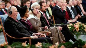 Mette-Marit de Noruega en una imagen de la ceremonia.