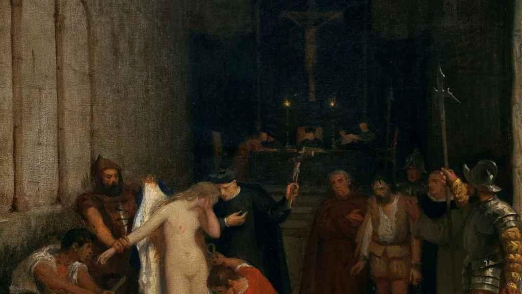 'Una escena de la Inquisición', pintado por Víctor Manzano.