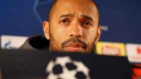 Henry en la rueda de prensa previa a su choque ante el Dortmund