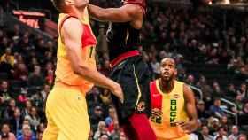 Tristan Thompson en un partido con los Cleveland Cavaliers