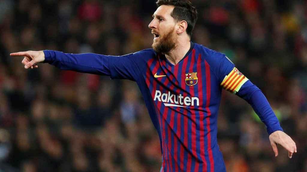 Messi en el Barcelona - Tottenham Hotspur de Champions League