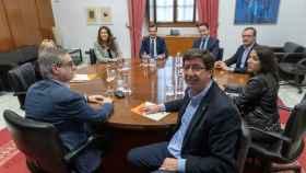 Juan Marín durante las negociaciones con Moreno Bonilla