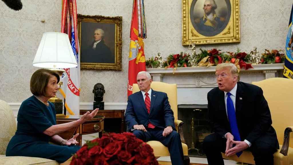 Schumer y Pelosi con Trump este martes en el Despacho Oval
